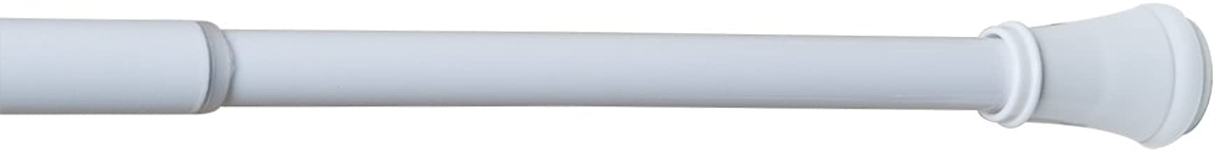MAYTEX Smart Rods Superior Hold Tension Window Curtain Rod, 28-48-Inch, White