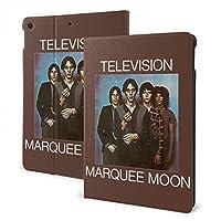 テレビバンドマーキームーン television marquee moon Apple iPad 7 ケース 10.2インチ 2019モデル 第7世代用 高級PUレザー スリープ/ウェイク 角度調節可能なスタンド 三つ折り 全面保護 スタンド スマートケース カバー 手帳型 薄型 フレキシブル かわいい