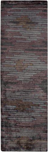 Diva At Home 2.5' x 8' Plum Brique Superlatite an Classique Lavender Free shipping Purple