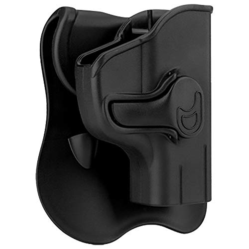Polymer OWB Holster Fit Ruger LC9 LC9s LC380 EC9 EC9s   UNFIT LCP / Security9 / SCCY - Index Finger Released   360°Adjustable Cant   Autolock   Outside Waistband - Right Handed