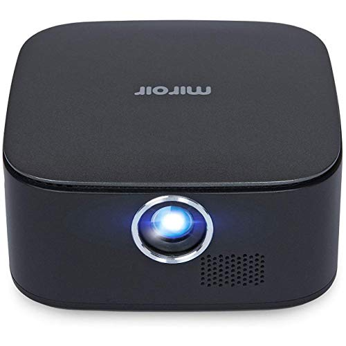 Miroir Micro Projector (RENEWED), LED LAMP, Handheld Mini Projector with Built-in Rechargeable Battery, 360p and HDMI Input for Home Theater Streaming, and Outdoor Entertainment (M75)