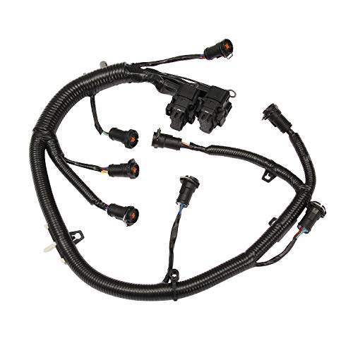 FICM Engine Fuel Injector Complete Wiring Harness | for Ford 6.0L Powerstroke Diesel | 2003-2007 F250 F350 F450 F550, 2004-2005 Excursion | Replace# 5C3Z-9D930-A, 5C3Z9D930A