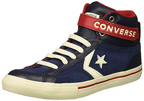 Converse Boys#039 Pro Blaze Strap Suede High Top Sneaker Midnight Navy/Obsidian 4 M US Big Kid