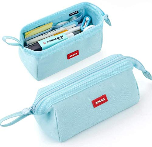 iSuperb Estudiantes Estuche, Estuche Escolar de Gran Capacidad,Estuche grande para lápices,Estuche de Lápices para Adolescentes,Pencil Case (Azul)