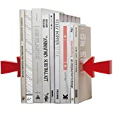 HJHJ bookends Decorative Arrow Bookends Set Creative Magnetic Book Ends White Metal Bracket and Red Magnetic Arrow Book Stoppers Bookshelf Decor Book Ends Gift