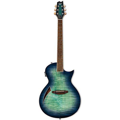 ESP LTD LTL6FMAQMB Thinline Guitarra eléctrica de 6 cuerdas con cuerpo de...