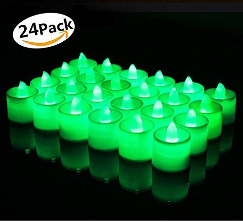 Bougies LED, Morbuy Flamme Vacillante 24PC Lumière Piles Alimentation Proposition de Mariage Romantique Anniversaire Décoration de Halloween Maison Mariage Anniversaire Soirée Fête (Blanc chaud)