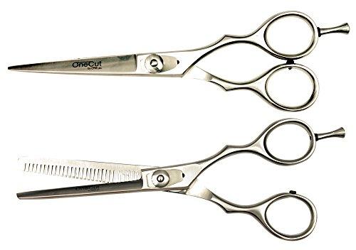 Kit Ciseaux professionnels de coiffure Droit et Sculpteur 6,0 inch (15,2cm) OneCut