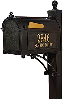 16296 Aluminum Deluxe Capitol Mailbox Package in Bronze