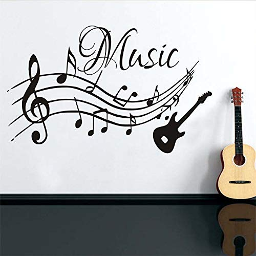 Tianpengyuanshuai Music Mall Sticker PVC Movable Living Room Kindertuin Home Decoration Gitaar Wall Decals