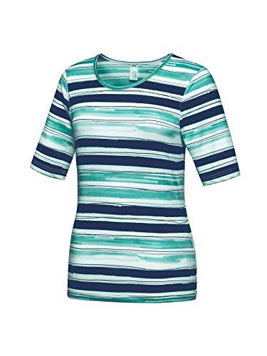 Joy Sportswear Helga T-Shirt für Damen aus bequemem Komfort-Stretch, angenehm leichtes Kurzarm-Sportshirt in diversen Größen und Farben 38, Mystery Stripes