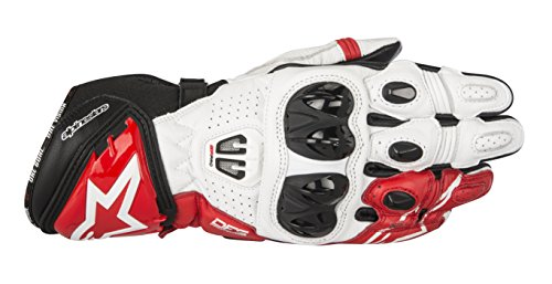 Alpinestars Guantes de carreras GP Pro R2, color negro y blanco, talla 3XL