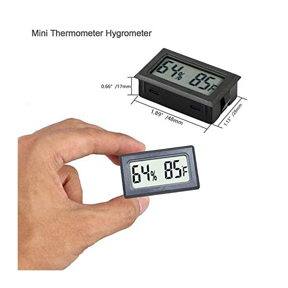 Veanic 4-pack mini digital thermometer hygrometer meters gauge indoor large number display temperature fahrenheit… 2 mini digital humidity thermometer allows you to easily know the environment temperature and humidity around you 2in1 meter with built-in probe; digital electronic thermometer and hygrometer for measuring temperature and humidity for indoor use fahrenheit (℉) display, this thermometer displays temperature in fahrenheit