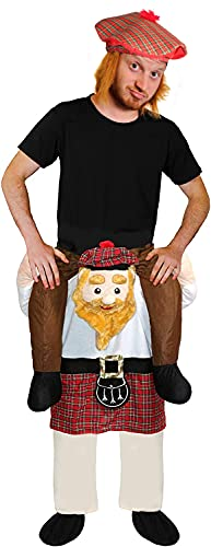Juego de accesorios para disfraz de escocs con gorro y gorro de Tam O'Shanter, con pelo atacado, para ftbol y deportes de ftbol