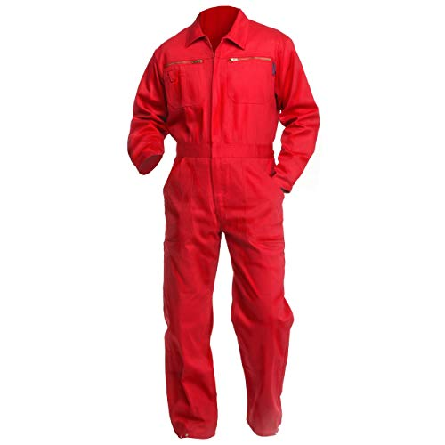 Sweat Life® Herren Overall Arbeitsanzug Rot (48)