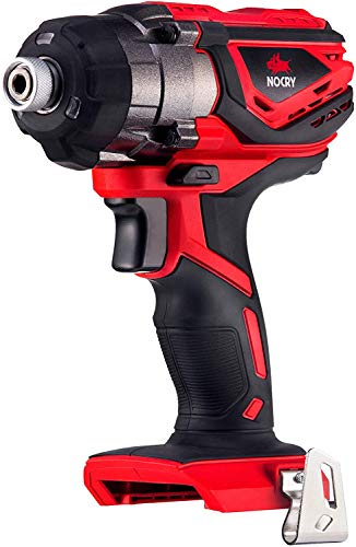 NoCry 20V Cordless Impact Driver Kit with 120 ft-lb (160 N.m) Torque, 3000 Max RPM/IPM, 1/4 inch Hex Chuck, LED Work Light & Belt Clip