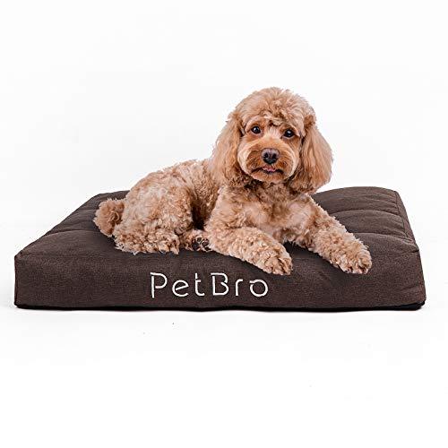 Almohadillas de cama para perro, impermeables, lavables de alta calidad, para mascotas, para cachorros, pequenos, medianos y de seguridad en lavadora, 60 x 60 x 13 cm.