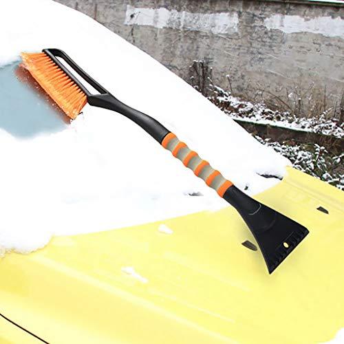 Fantastic Deal! Vkarh 2Pcs/Set Car Snow Removal Brush Shovel, Foam Long Handle Snow Removal Brush De...