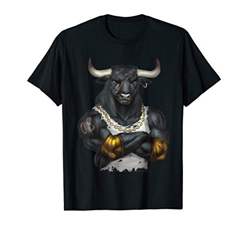 fitnessstudio shirts Ochse,Stier,Bulle t-shirt,gym t shirt T-Shirt