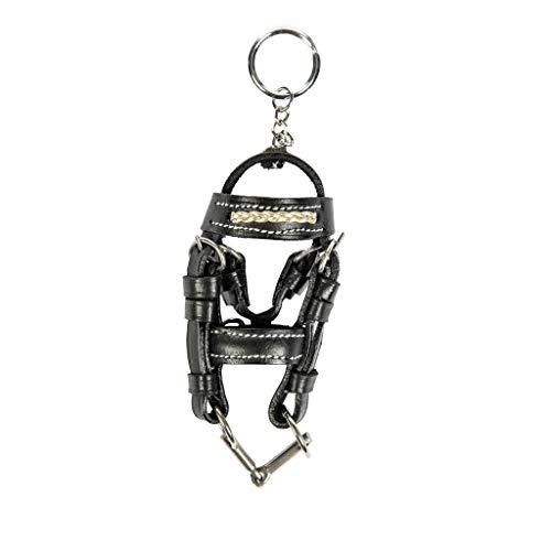 HKM 4057052064364 Schlüsselanhänger -Mini-Trense-9172 Schwarz/Goldst