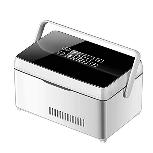 XXBB Refrigerador de Insulina, Refrigerador de Medicamentos de 2-8 ℃, Refrigerador Médico para Exteriores, Caja de Almacenamiento de Medicamentos de Gran Capacidad, USB, Carga para Automóvil, con Asa