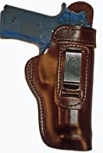 Colt Government 380 Heavy Duty Brown Right Hand Inside The Waistband Concealed Carry Gun Holster With Slide Guard Bodyshield