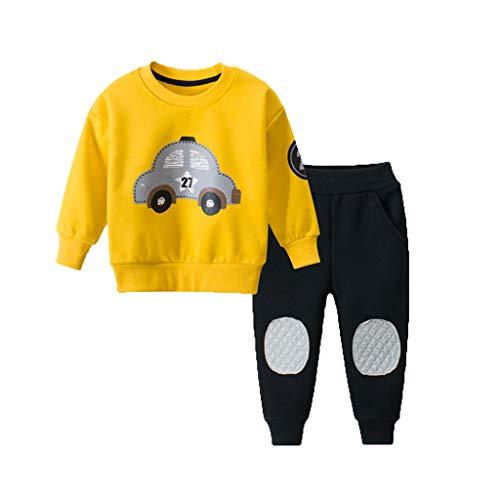 Allence Kleinkind Baby Jungen Sweatshirt Karikatur Auto Pullover Hemd übersteigt Hosen-Kleidung Outfits Set