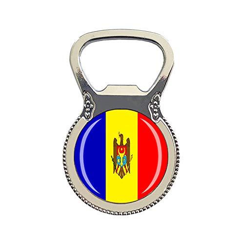 Moldavia bandiera nazionale apribottiglie 3D frigorifero magnete souvenir collezione regalo decorazione casa e cucina adesivo magnetico frigorifero magnete
