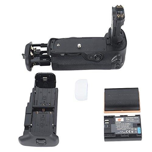 DSTE Multi-Energia Verticale Batteria Presa Compatibile per Canon EOS 7D Mark II Digital SLR Fotocamera Come BG-E16 con 2-Pack LP-E6