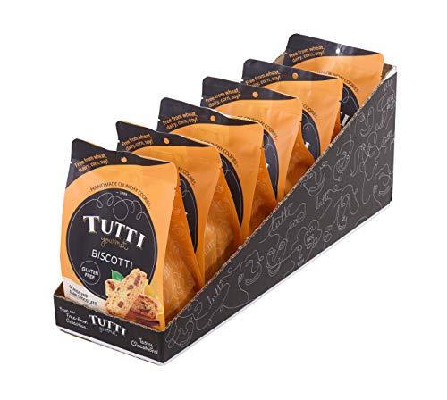 Gluten Free Biscotti Cookie - Orange & Dark Chocolate - 6 bags x 6.34 oz - Snacks - Free From Dairy, Corn, Soy, Wheat. Allergen Friendly. Delicate Crunch