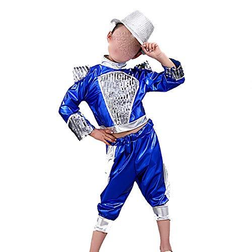 Zhao Li Kinderkostuums Jongens En Meisjes Jazz Dans Straat Dans Moderne Dans Kostuums Kinderen Hip Hop Hip-hop Kostuum Blauw/Zwart