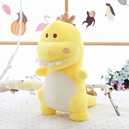 Morbuy Peluche Relleno, Sr. Dinosaurio Juguete de Peluche Suave Lindo Animals 40cm Mejores Regalos para Niños (Amarillo)
