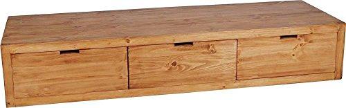 MiaMöbel Lowboard Mexico Möbel 195x35x65 cm Landhausstil Massivholz Pinie Honig