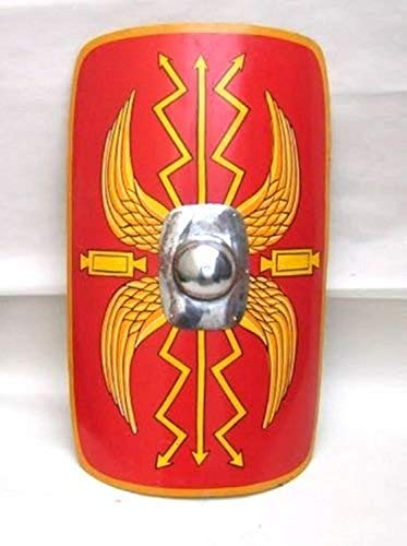 THORINSTRUMENTS (with device) Fully Fucntional 35' Medieval Roman Armour Legion Scutum Shield SCA LARP Costume