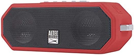 Altec Lansing IMW449 Jacket H2O 4 Rugged Floating Ultra Portable Bluetooth Waterproof Speaker with up to 10 Hours of Battery Life, 100FT Wireless Range and Voice Assistant Integration (True Red)