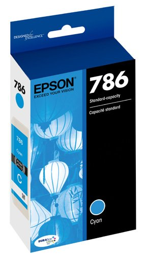 Epson T786220 DURABrite Ultra Standard-Capacity Ink Cartridge, Cyan Photo #2