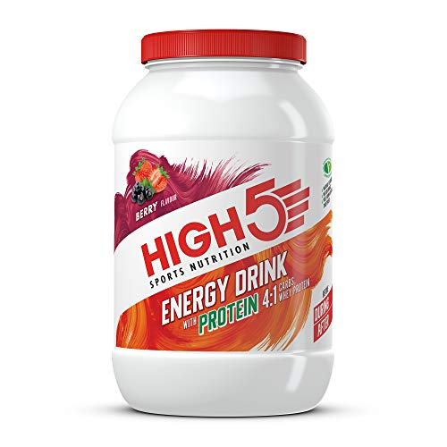 HIGH5 Energy Drink with Protein Blend of Carbohydrates Protein & Electrolytes (Berry, 1.6kg)