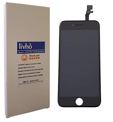 livhò® Scherm LCD Zwart compatibel met iPhone 6 / Display LCD + Touchscreen