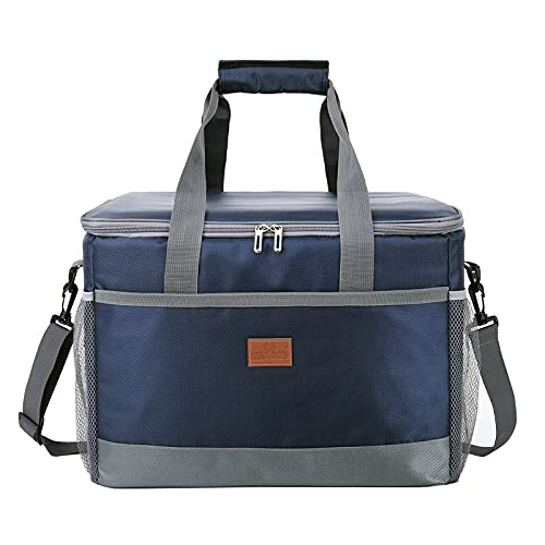 Large Oxford cloth thick insulation bag waterproof ice pack outdoor car picnic bag 422831cm 33L navy blue