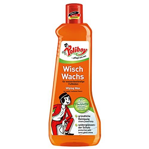 Poliboy - Wisch Wachs - Reinigung und Pflege aller wasserfesten Fußböden - Bodenreinigung - Einzeln - 500 ml - Made in Germany