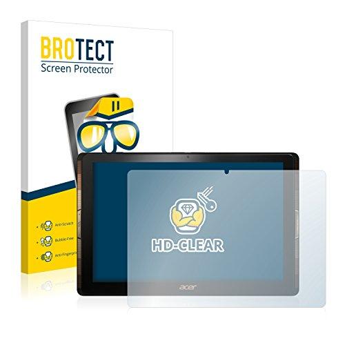BROTECT Schutzfolie kompatibel mit Acer Iconia Tab 10 A3-A40 (2 Stück) klare Bildschirmschutz-Folie