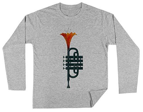 Trompet Bloem Unisex Kinder Jongens Meisjes Lange Mouwen T-shirt Grijs Unisex Kids Boys Girls's Long Sleeves T-Shirt Grey