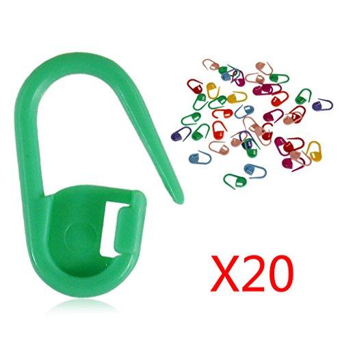 à tricoter Crochet de verrouillage point marqueurs Aiguille Clip Support Mini Mix Impressionnante Plastique Craft Lot de 20