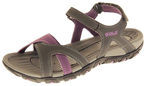 Gola - Sandalias romanas para mujer, cierre de velcro, deportivas, color Morado, talla 39 EU