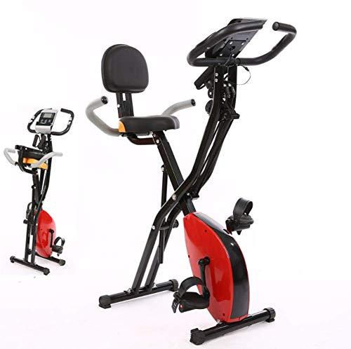 Pillowcase Bicicletas estáticas Verticales Plegables magnéticas Sala de Fitness Ciclismo Deportes Bicicleta Familiar con Respaldo Spinning Home Spinning Bike Office Ideal Cardio Training