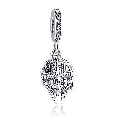 BAKCCI Abalorio de plata de ley 925 con diseño de halcón de...