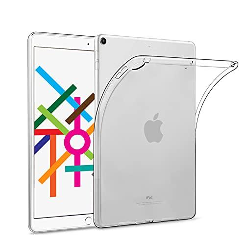 【2020秋改良 * 1枚入り】iPad 10.2 ケース/ iPad 8 ケース クリア (2020/2019) 専用 TPU素材製 薄型 軽量 高透明感 擦り傷防止 耐衝撃 iPad 第8世代/第7世代 10.2インチ カバー