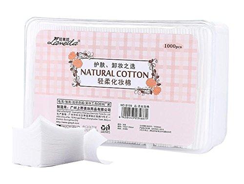 Tapis de coton nettoyant pour maquillage 1000pcs