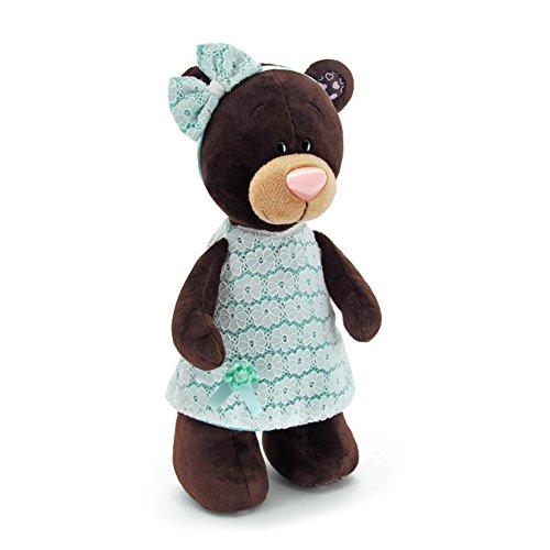 Orange Toys m5044/30 – Milk Debout Robe, Doudou pour Adultes et Enfants dans Emballage Cadeau, 30 cm, Marron/Turquoise