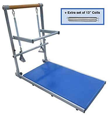 """Supreme Toning Tower   EXTRA RESISTANCE PACKAGE   Tone Arms, Legs, and Core   Fully Assembled   Sturdy but Light-Weight Frame   2 DVDs and 40 FREE Online Workouts + EXTRA 13"""" Coils"""